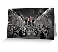 Stars and Stripes at Rush Hour Greeting Card