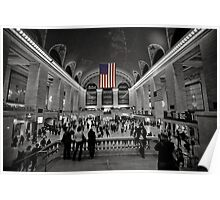 Stars and Stripes at Rush Hour Poster