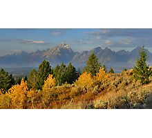 Autumn Morning, The Tetons Photographic Print