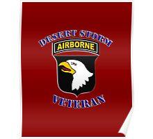 101st Airborne Desert Storm Veteran - iPad Case Poster