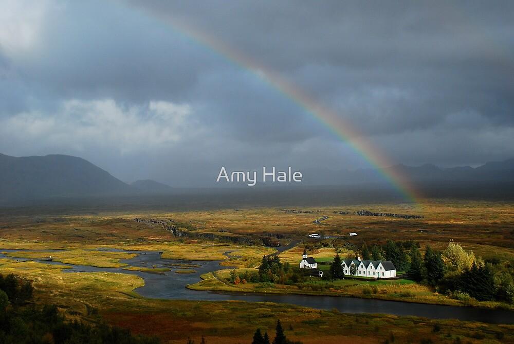 Rainbow Glow - Thingvellir, Iceland by Amy Hale