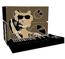 Blindskunk - Keyboard - PopArt Photographic Print