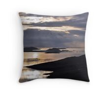 Storm clouds over Sumburgh Head Throw Pillow