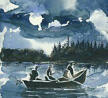Beneath the Stars - Night Time Fishing by Elisabeta Hermann