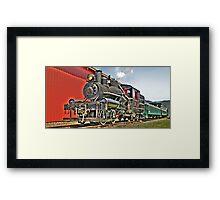 Little steam engine Framed Print