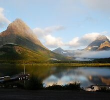 Morning Mist - Glacier National Park by Amy Hale