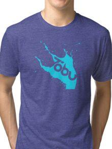 Tobu - Blue Splash Tri-blend T-Shirt