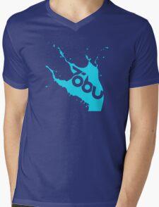 Tobu - Blue Splash Mens V-Neck T-Shirt