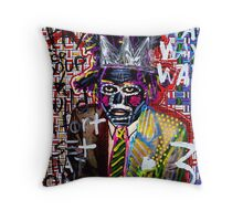 Jean Michel Throw Pillow