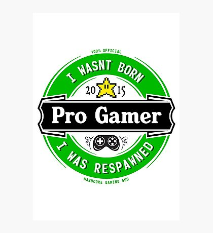 Pro Gamer Photographic Print