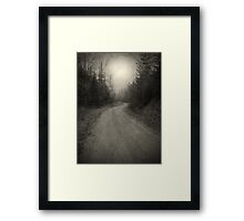 The Light at the End of the Road Framed Print