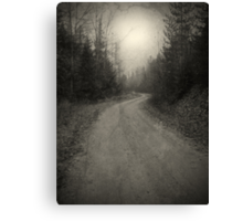 The Light at the End of the Road Canvas Print
