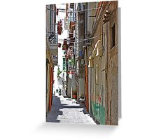 Alley in Salerno Greeting Card