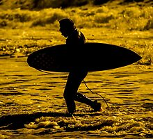 Surfer Silhouette  by Rob Hawkins