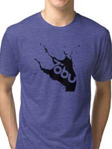 Tobu - Black Splash Tri-blend T-Shirt