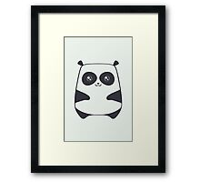 The cute panda Framed Print