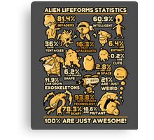 Alien Statistics Canvas Print