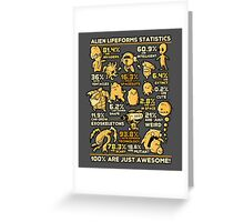 Alien Statistics Greeting Card