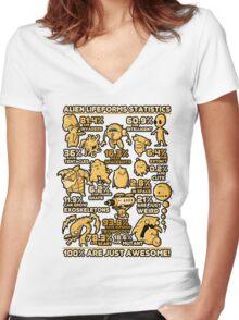 Alien Statistics Women's Fitted V-Neck T-Shirt