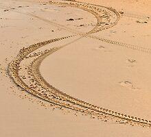 Bike track in the sand by Booba123