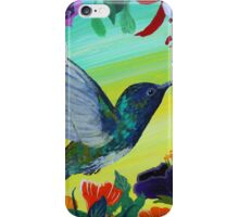 Hummingbird gathering nectar iPhone Case/Skin