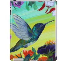 Hummingbird gathering nectar iPad Case/Skin