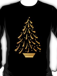 Gold Christmas Tree T-Shirt