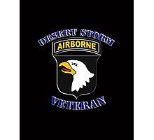 101st Airborne Desert Storm Veteran - iPad Case Photographic Print