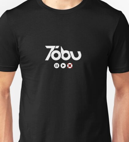 Tobu Play Button and Logo - White Unisex T-Shirt