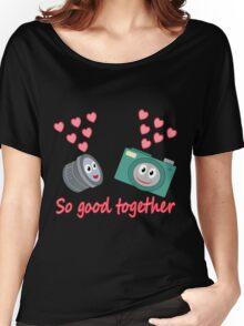 kawaii Camera and Lens love design Women's Relaxed Fit T-Shirt