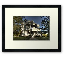 The Pink House (Gingerbread House Series) Framed Print