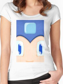 Megaman: Robotic Eyes Women's Fitted Scoop T-Shirt