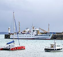 Scillonian III At Penzance Harbour by Susie Peek