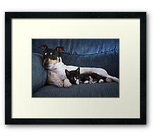 The Baby Sitter Framed Print
