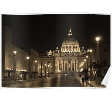 The Road To Saint Peter, Rome. Poster