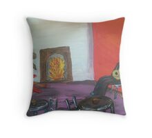 Dance In The Firelight Throw Pillow