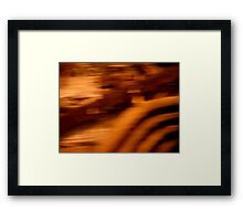 Orange Quick Framed Print