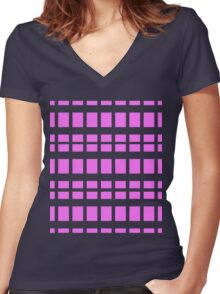? Pink ? Women's Fitted V-Neck T-Shirt
