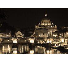 Down Stream Catholicism, Rome. Photographic Print