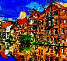Bruges Town Belgium Fine Art Print by stockfineart