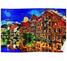 Bruges Town Belgium Fine Art Print Poster