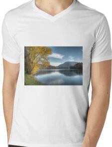 New River Autumn Mens V-Neck T-Shirt