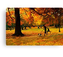 The lady with dog Canvas Print
