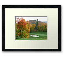 Autumn golf Framed Print