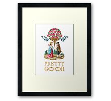 Pretty Good Red Roses Framed Print