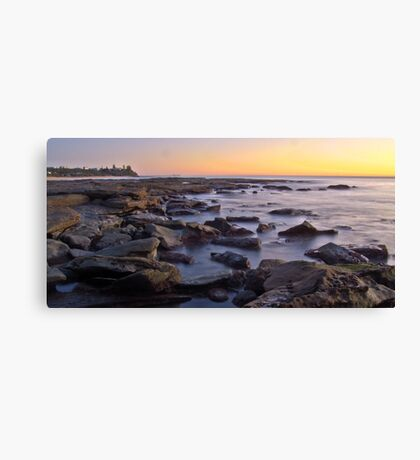 Kings beach rocks Canvas Print