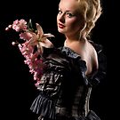 Beautiful girl with flowers by Stevan Biber