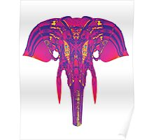 Cosmic Elephant - Pink/Blue Poster