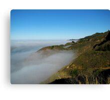 Fog Over The Big Sur Coast Canvas Print