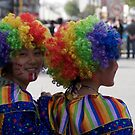 Clowns in the town by James Godber
